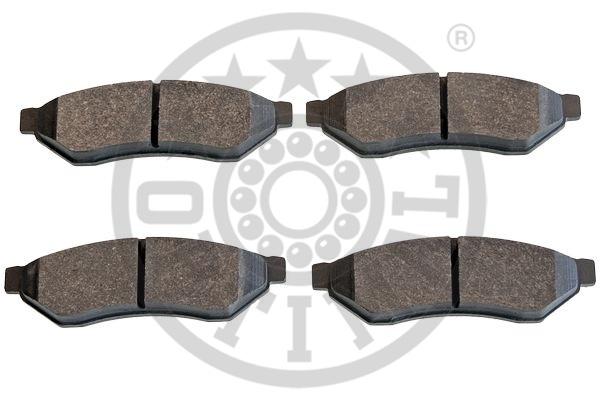 Kit de plaquettes de frein, frein à disque - OPTIMAL - 12435