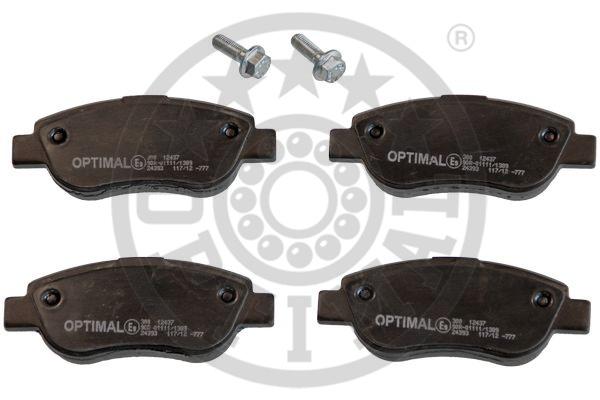 Kit de plaquettes de frein, frein à disque - OPTIMAL - 12437