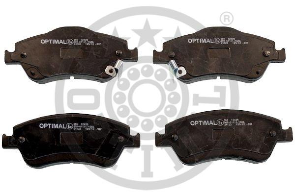 Kit de plaquettes de frein, frein à disque - OPTIMAL - 12439