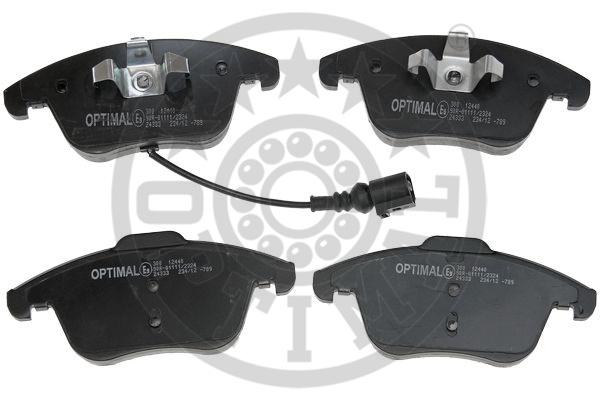 Kit de plaquettes de frein, frein à disque - OPTIMAL - 12440