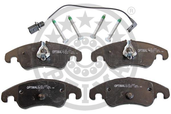 Kit de plaquettes de frein, frein à disque - OPTIMAL - 12442