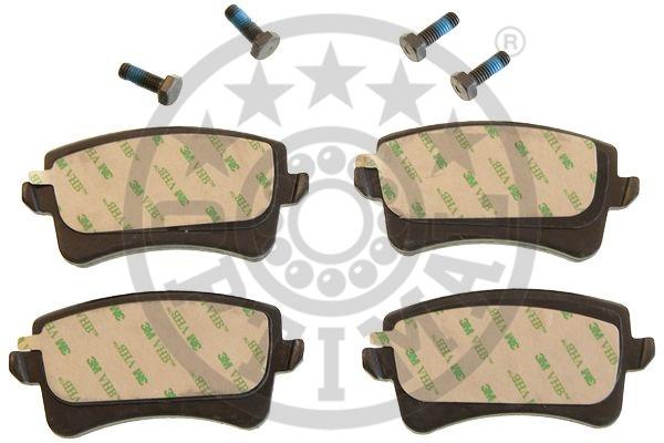 Kit de plaquettes de frein, frein à disque - OPTIMAL - 12443