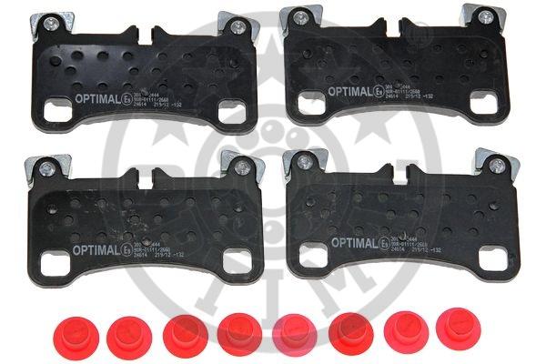 Kit de plaquettes de frein, frein à disque - OPTIMAL - 12444