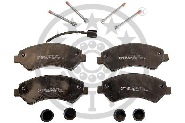 Kit de plaquettes de frein, frein à disque - OPTIMAL - 12445