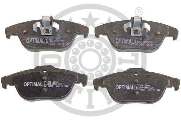 Kit de plaquettes de frein, frein à disque - OPTIMAL - 12448
