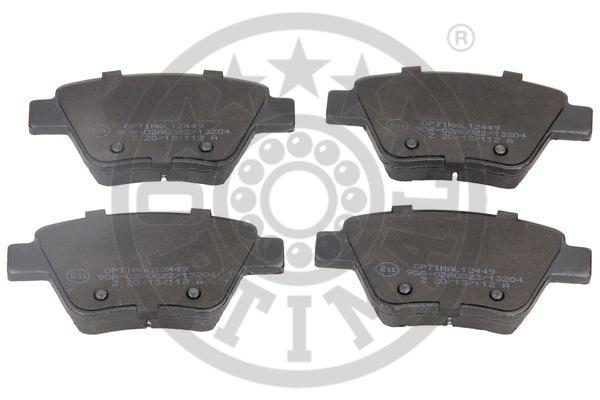 Kit de plaquettes de frein, frein à disque - OPTIMAL - 12449