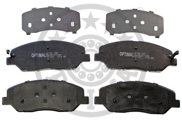 Kit de plaquettes de frein, frein à disque - OPTIMAL - 12450