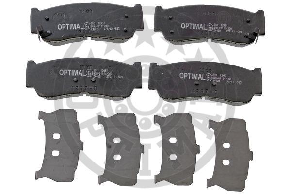 Kit de plaquettes de frein, frein à disque - OPTIMAL - 12451