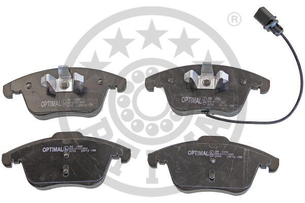Kit de plaquettes de frein, frein à disque - OPTIMAL - 12452