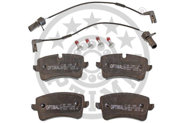 Kit de plaquettes de frein, frein à disque - OPTIMAL - 12458