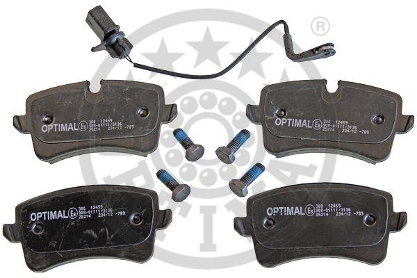 Kit de plaquettes de frein, frein à disque - OPTIMAL - 12459