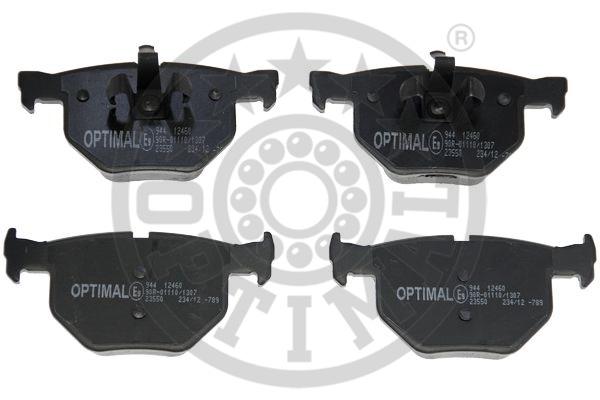 Kit de plaquettes de frein, frein à disque - OPTIMAL - 12460
