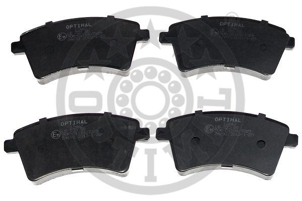 Kit de plaquettes de frein, frein à disque - OPTIMAL - 12462