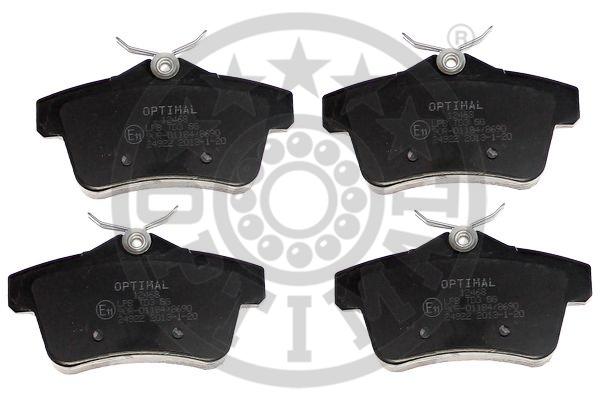 Kit de plaquettes de frein, frein à disque - OPTIMAL - 12468