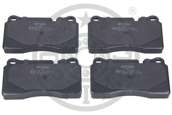 Kit de plaquettes de frein, frein à disque - OPTIMAL - 12477