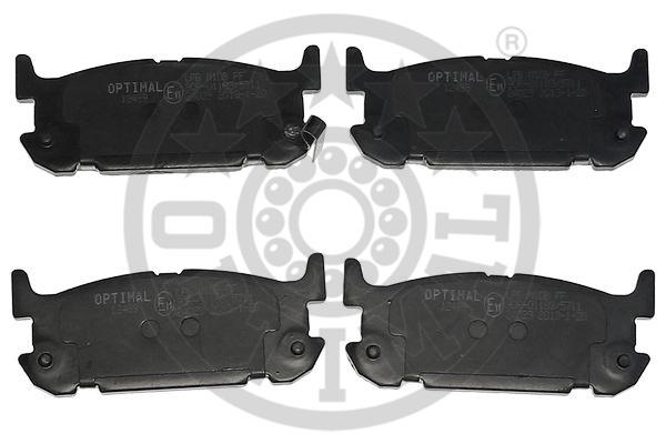Kit de plaquettes de frein, frein à disque - OPTIMAL - 12489