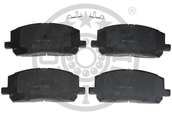 Kit de plaquettes de frein, frein à disque - OPTIMAL - 12496