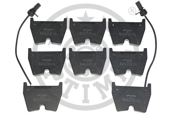 Kit de plaquettes de frein, frein à disque - OPTIMAL - 12517