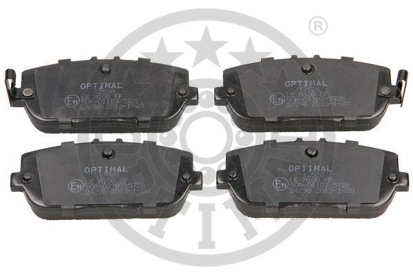 Kit de plaquettes de frein, frein à disque - OPTIMAL - 12526