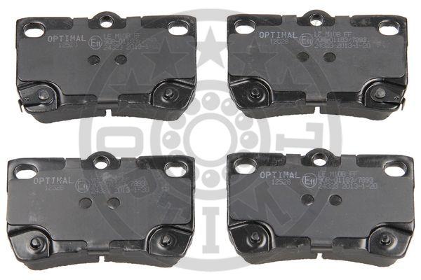 Kit de plaquettes de frein, frein à disque - OPTIMAL - 12528