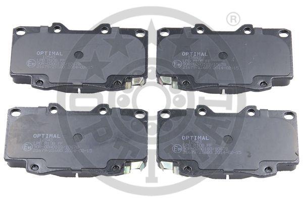 Kit de plaquettes de frein, frein à disque - OPTIMAL - 12543