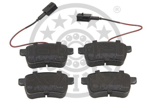 Kit de plaquettes de frein, frein à disque - OPTIMAL - 12554
