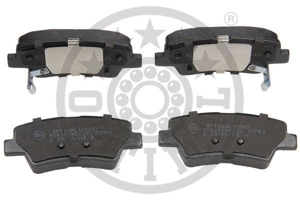 Kit de plaquettes de frein, frein à disque - OPTIMAL - 12560
