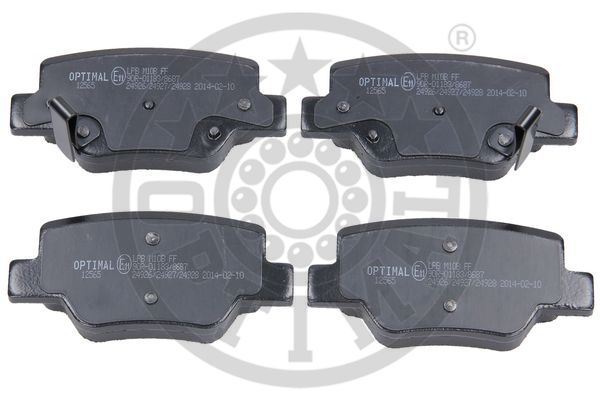 Kit de plaquettes de frein, frein à disque - OPTIMAL - 12565
