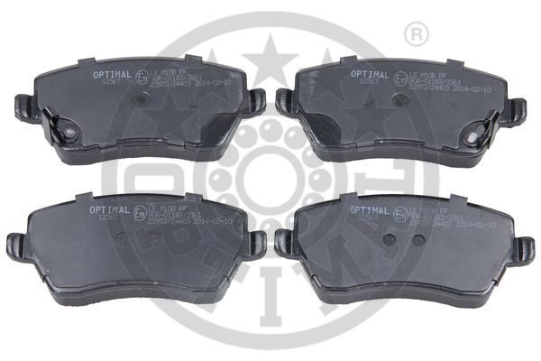 Kit de plaquettes de frein, frein à disque - OPTIMAL - 12567