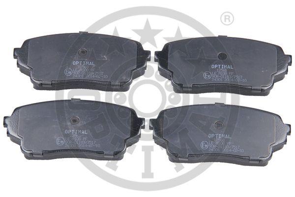 Kit de plaquettes de frein, frein à disque - OPTIMAL - 12568