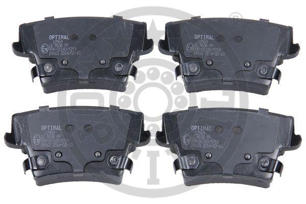 Kit de plaquettes de frein, frein à disque - OPTIMAL - 12569