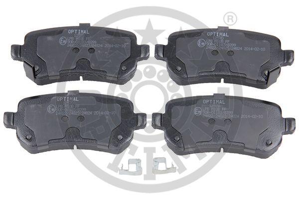 Kit de plaquettes de frein, frein à disque - OPTIMAL - 12570