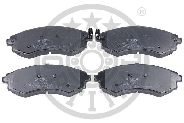 Kit de plaquettes de frein, frein à disque - OPTIMAL - 12572