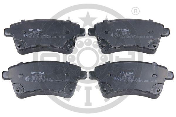 Kit de plaquettes de frein, frein à disque - OPTIMAL - 12575
