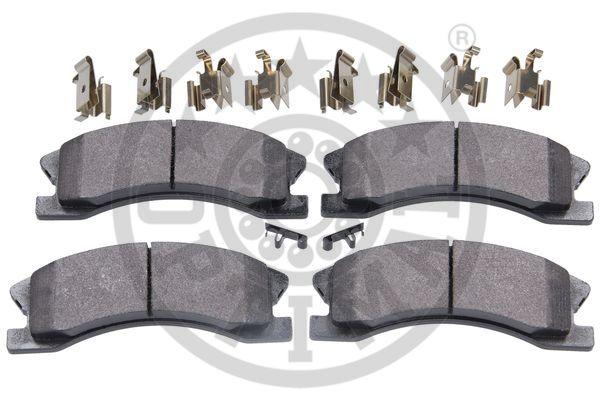 Kit de plaquettes de frein, frein à disque - OPTIMAL - 12580