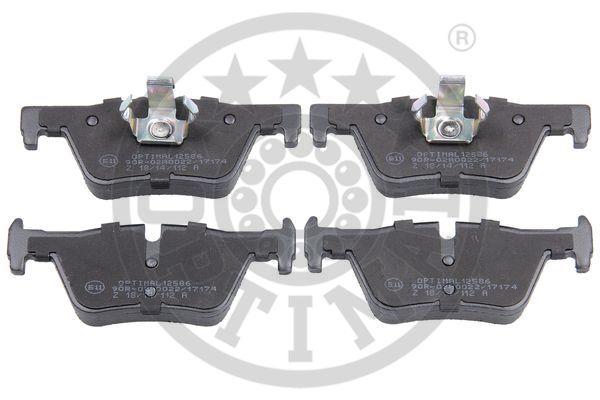 Kit de plaquettes de frein, frein à disque - OPTIMAL - 12586