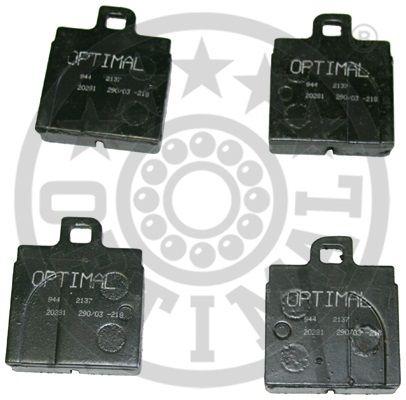 Kit de plaquettes de frein, frein à disque - OPTIMAL - 2137