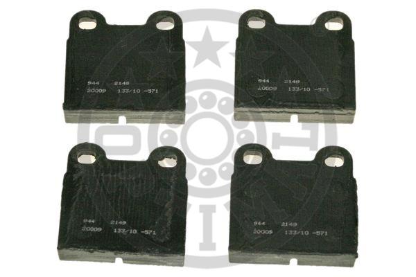 Kit de plaquettes de frein, frein à disque - OPTIMAL - 2149