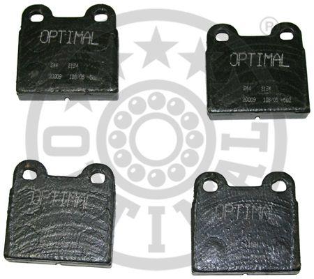 Kit de plaquettes de frein, frein à disque - OPTIMAL - 2194