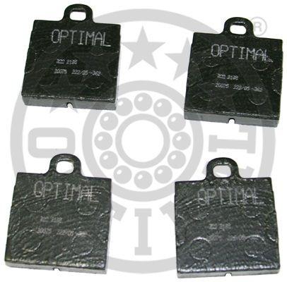 Kit de plaquettes de frein, frein à disque - OPTIMAL - 2195