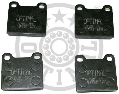 Kit de plaquettes de frein, frein à disque - OPTIMAL - 2196