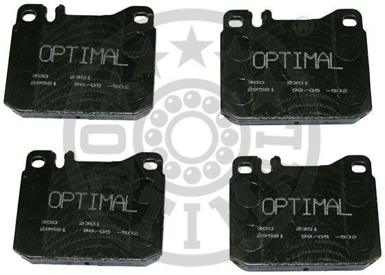 Kit de plaquettes de frein, frein à disque - OPTIMAL - 2301