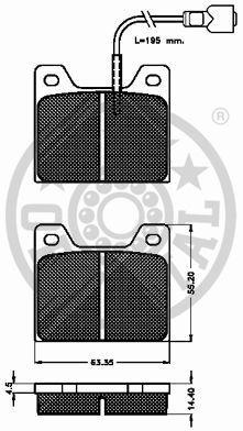 Kit de plaquettes de frein, frein à disque - OPTIMAL - 2366