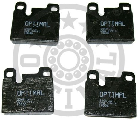 Kit de plaquettes de frein, frein à disque - OPTIMAL - 2368