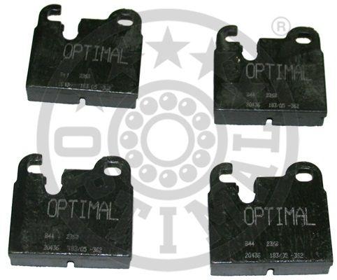 Kit de plaquettes de frein, frein à disque - OPTIMAL - 2369