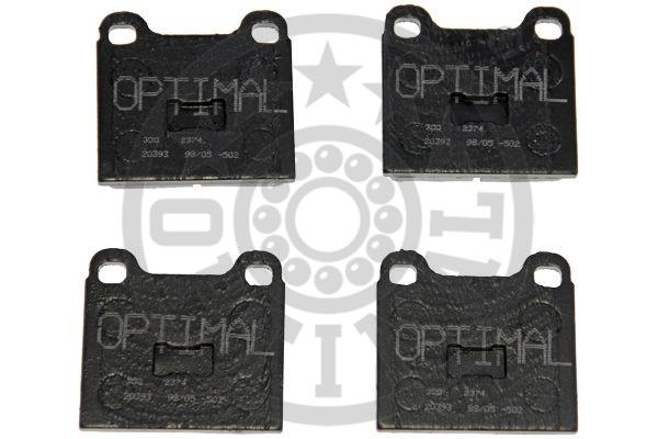 Kit de plaquettes de frein, frein à disque - OPTIMAL - 2374
