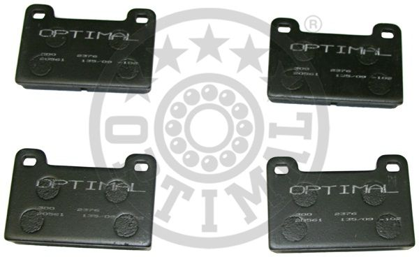 Kit de plaquettes de frein, frein à disque - OPTIMAL - 2376