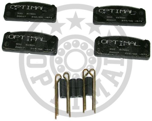 Kit de plaquettes de frein, frein à disque - OPTIMAL - 3150X