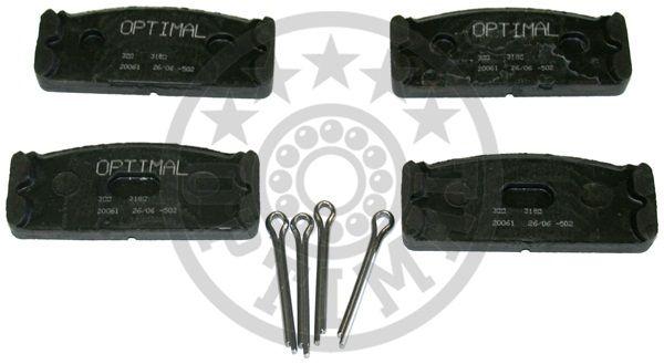 Kit de plaquettes de frein, frein à disque - OPTIMAL - 3150
