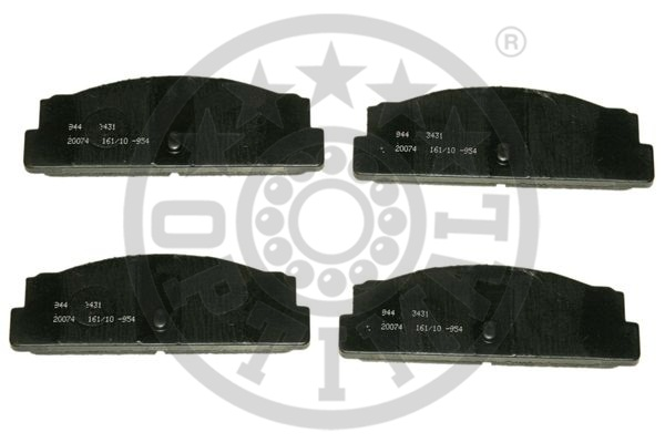 Kit de plaquettes de frein, frein à disque - OPTIMAL - 3431